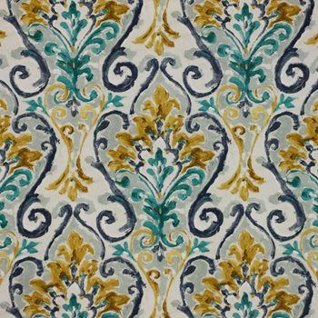 Constantinople Aegean By Rm Coco In 2020 Rm Coco Upholstery Fabric Teal And Pink