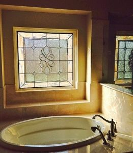 Relax In Total Privacy With Bathroom Stained Gl Windows Pinterest Bath And Win