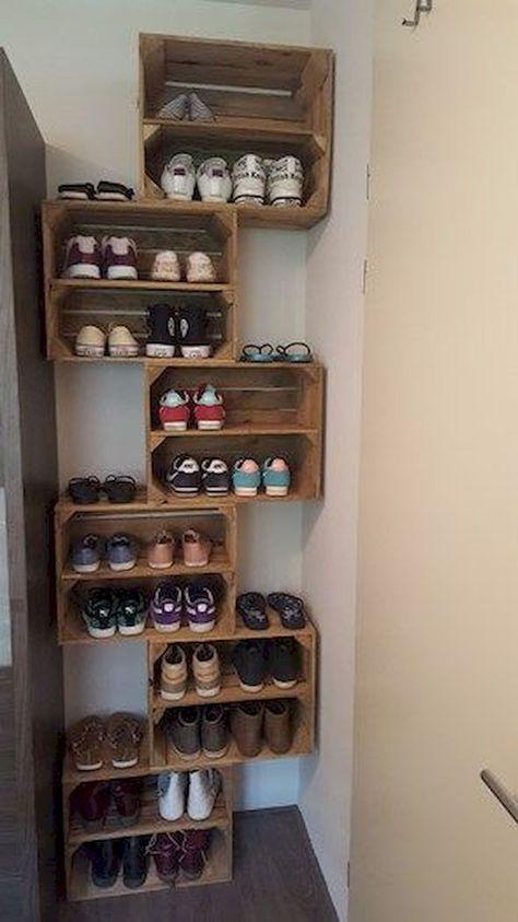 Tempat sepatu buat sendiri.  Murah & fungsional #Dekorroom