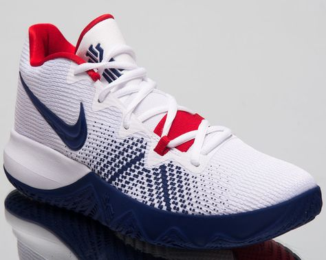 707a7a5f6d89 Nike Kyrie Flytrap Basketball Shoes White Deep Royal Blue Red 2018  AA7071-146