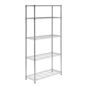 Honey Can Do Chrome 5 Tier Metal Wire Shelving Unit 14 In W X 72 In H X 36 In D Shf 01443 The Home Depot Shelving Unit Steel Shelving Unit Garage Shelving Units