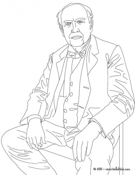 Thomas Edison Coloring Pages People Coloring Pages Coloring Pages Coloring Pages Inspirational