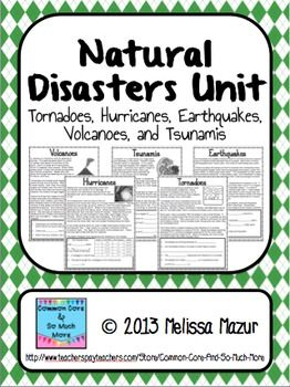 Natural Disasters - Unit Activities