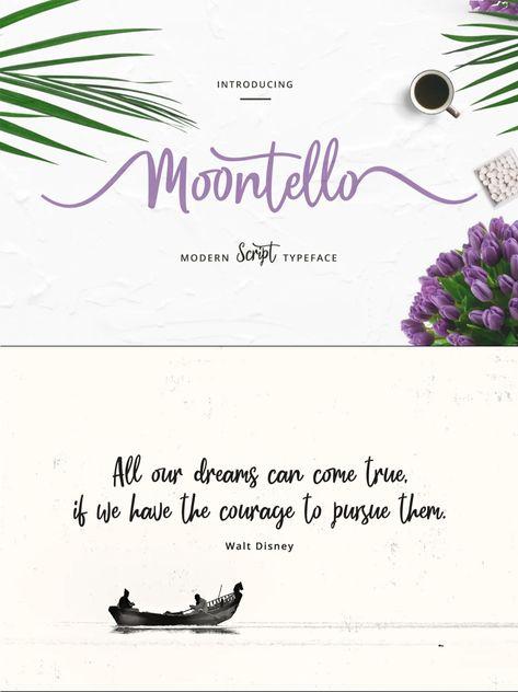 Moontello Script - Fresh & Natural Script Font
