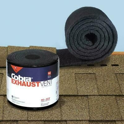 Details About Cobra Exhaust Vent 10 1 2 In X 20 Ft Mesh Roll Ridge Vent In Black In 2020 With Images Exhaust Vent Ridge Vent Roll Roofing