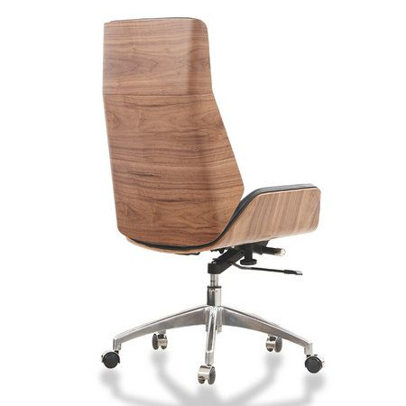 Bent Wood Swivel Executive Genuine Leather Office Chair China