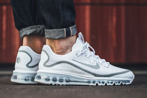 "856d75446e9ed On-Foot: Nike Air Max More ""White/Metallic Silver"""