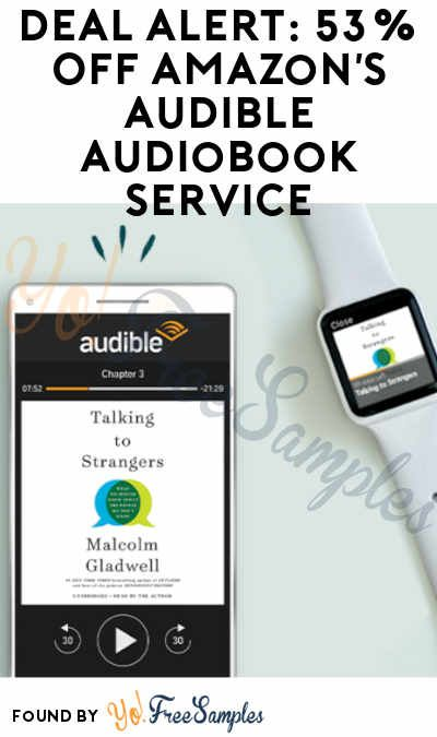 Deal Alert 53 Off Amazon S Audible Audiobook Service 3 Free Downloads Credit Card Required Yo Free Samples Audio Books Audio Books Free Amazon Audible