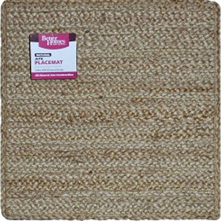 Better Homes Gardens Jute Braid 14 Natural Color Square Placemat Walmart Com Better Homes Gardens Placemats Better Homes