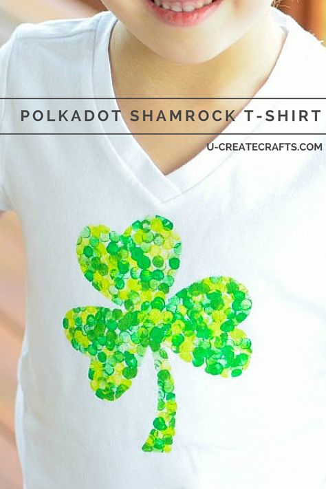 Polkadot Shamrock T-shirt Tutorial