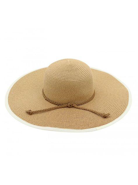 Women s Summer Straw Sun Hat Floppy Large Wide Brim Beach Cap ... 9dd54a81cce