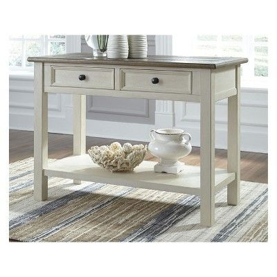 Bolanburg Sofa Table Brown White Signature Design By Ashley Sofa Table Console Table Living Room Console