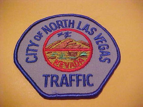 Us State Of Nevada City Of North Las Vegas Traffic Department Patch Las Vegas City Traffic Department Las Vegas