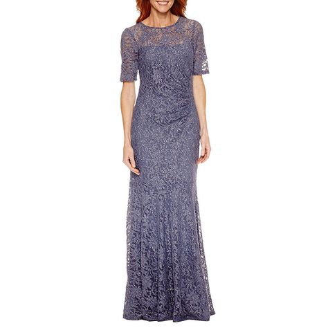 1f7b4e913ce One By Eight 3 4 Sleeve Evening Gown