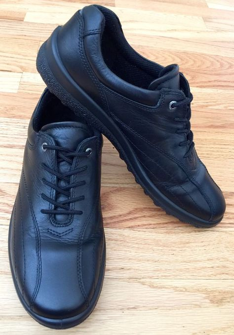 Comfort Treble White Black Leather Lace Up Casual Washable Shoes Sizes 3-9 UK