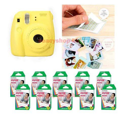 Fujifilm Fuji Instax Mini 8 Instant Polaroid Camera Yellow + 100 Film Photo shot
