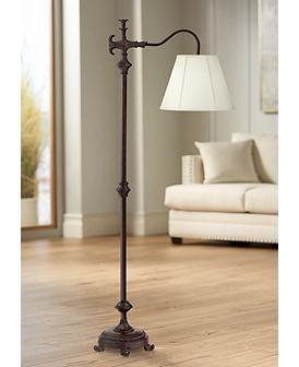 Hancock Traditional Bronze Downbridge Floor Lamp Traditional Floor Lamps Floor Lamp Styles Floor Lamp