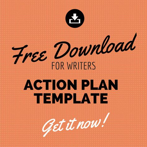 Free Action Plan Template for Writers and Bloggers (Free download - business action plan template word