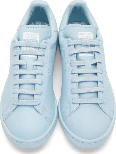 the best attitude 55d5a 7d842 RAF SIMONS X ADIDAS, STAN SMITH SNEAKERS light blue.