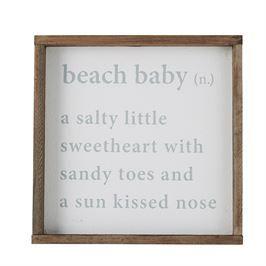 Beach Baby Definition Plaque | Living | Mud Pie