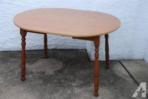 Oval Wood Kitchen Table With Formica Top Maple Legs Work Kitchen Table Wood Top Kitchen Table Table