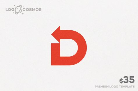 Direction - Letter D & Arrow Logo by Logo Cosmos on @creativework247