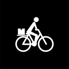 Food Delivery Bike Icon Isolated On Black Background Aff Bike Delivery Food Icon Background Ad In 2020 Food Delivery Bike Bike Icon Food Delivery