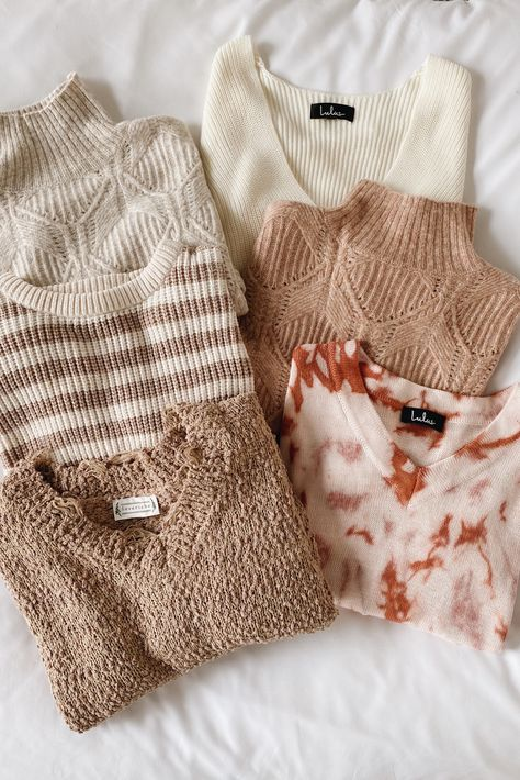 Get ready for sweater weather! Lulus collection of soft sweaters will keep you warm and cozy as temperatures drop. #lovelulus