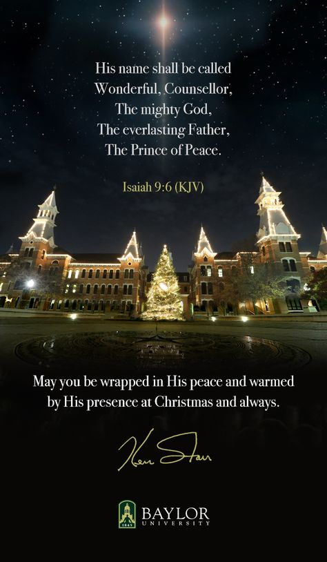 Merry Christmas, from #Baylor University.