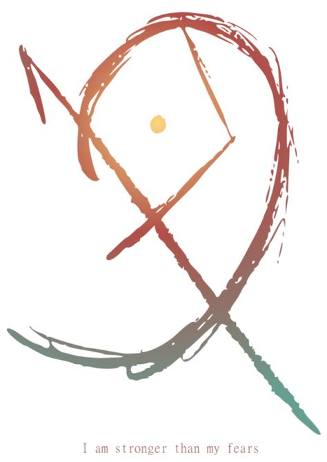 """borboranoir: """"To Face your Fears Sigil """"To escape fear, you have to go through it, not around."""" - Richie Norton Requested by anon """" Cool Symbols, Wiccan Symbols, Magic Symbols, Spiritual Symbols, Symbols And Meanings, Witchcraft Spells For Beginners, Pagan Witchcraft, Wiccan Witch, Magick"""