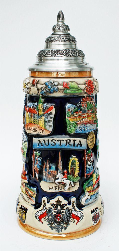 beer steins | Austria Commemorative Beer Stein - GermanSteins.com