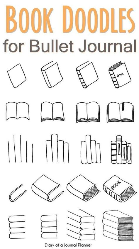 Free tutorials for bullet journal doodles to teach you how to draw a book standing up, an open book, a stack or pile of books, a bookshelf and more. drawings doodles How To Draw A Book Super Easy Step By Step Tutorials For Beginners) Doodle Bullet Journal, Bullet Journal Banner, Bullet Journal Writing, Bullet Journal Aesthetic, Doodle Art Journals, Bullet Journal Ideas Pages, Bullet Journal Inspiration, Book Journal, Books To Read Bullet Journal