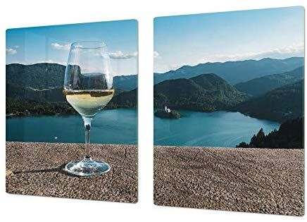 """; DOUBLE: 40 x 52 cm BIG Induction Cooktop Cover ; Wine Series DD04 Glass Pastry Board SINGLE: 80 x 52 cm 31,5/"""" x 20,47/"""" 15,75/"""" x 20,47/"""""""