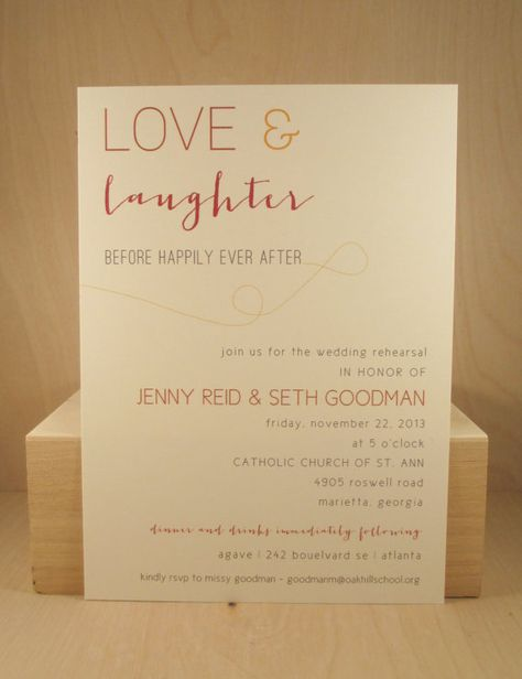 4e03798ca91f Love and Laughter Before the Happily Ever After   Wedding   Rehearsal    Shower   Dinner Printed Invitation or Fun PDF Printable File