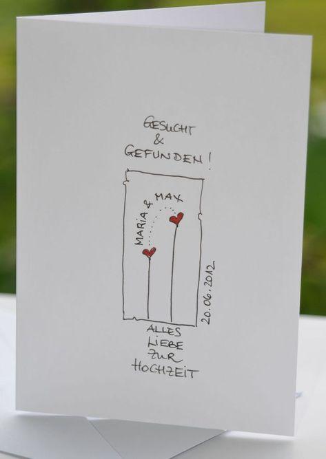 Hochzeitskarten  ganz persönliche Hochzeitskarte  KerstinCards  ein Designer