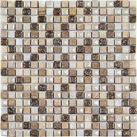 Glas Naturstein Mosaik Fliesen Mix