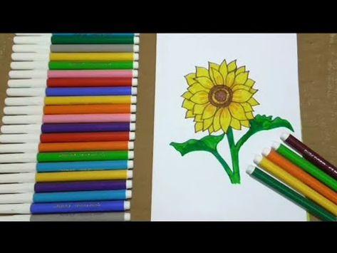 رسم الزهور بطريقه سهله Youtube