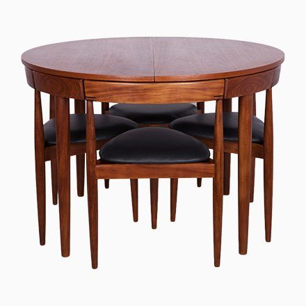 Extendable Dining Table With 6 Chairs By Hans Olsen For Frem Rojle 1950s For Sale At Pamono Teak Dining Table Dining Table Chairs Extendable Dining Table