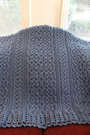 Crochet Blanket Pattern St Chapelle Braided Aran Cable | Etsy