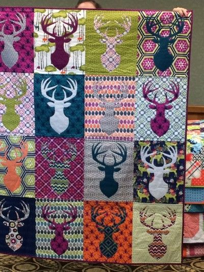 This is a killer quilt..... for a hunter, although I do like the colors - no camo here.