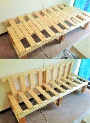 Old Wooden Pallet Bench Diyfurniture Diy Sofa Diy Sofa Bed Wooden Pallet Furniture