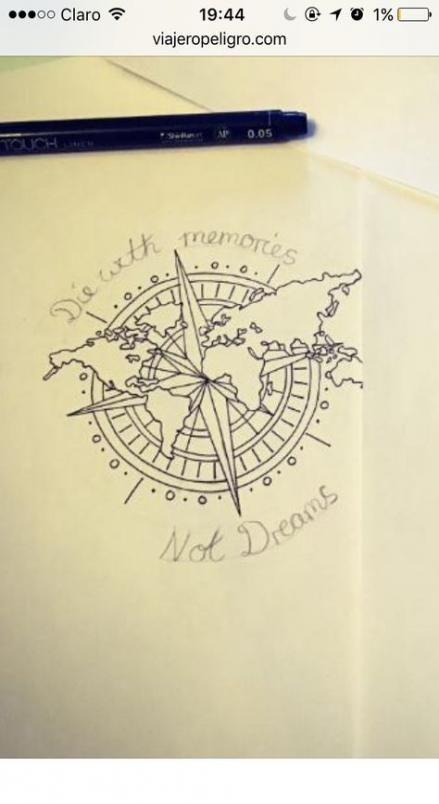Best travel tattoo adventure compass 63 ideas  Travel Travel Travel
