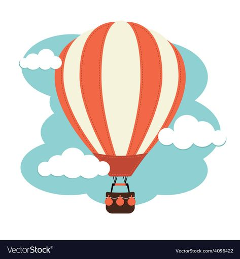 Hot Air Balloon in the clouds. Download a Free Preview or High Quality Adobe Illustrator Ai, EPS, PDF and High Resolution JPEG versions.