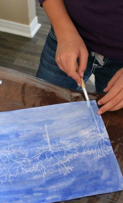 A gorgeous winter art activity with a child-directed process and a beautiful result too!  How Wee Learn