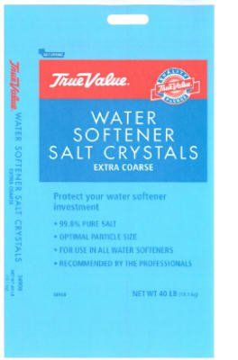 True Value 40 Lb 34908 Extra Coarse Water Conditioning Salt Crystals You Can Get More Details By Clicking On Water Softener Salt Salt Crystal Water Softener