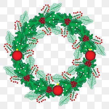 46+ Christmas wreath clipart png ideas