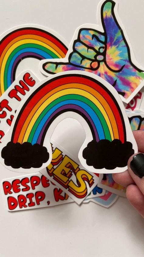 Rainbow Glossy Permanent Sticker