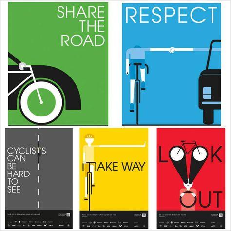 señalética básica del ciclista...