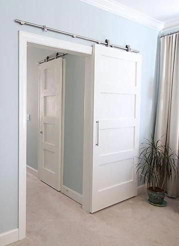 White Barn Door For Bathroom Interiorbarndoors Bathroom Barn