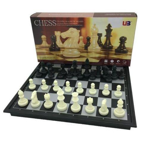 "Travel Set Chess Folding Magnetic Board 12.5/"" UB4812-B"